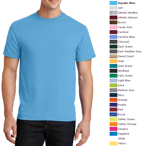 Adult 50 50 t shirt blank kettle embroidery for Blank polo shirts for embroidery